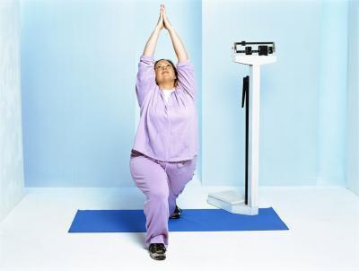 Esercizi di yoga per le donne Plus-Size