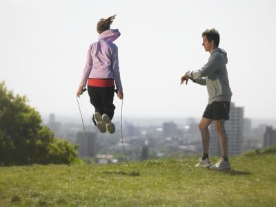 Esercizi di allenamento divertente circuito