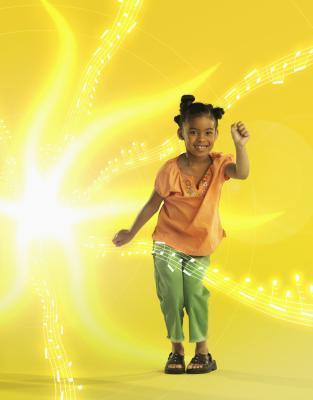 Esercizi di Zumba per bambini in età prescolare