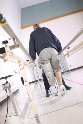 Terapia fisica per una protesi della gamba
