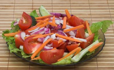 Insalate di basso contenuto di colesterolo, basso contenuto di grassi e basso contenuto di sodio