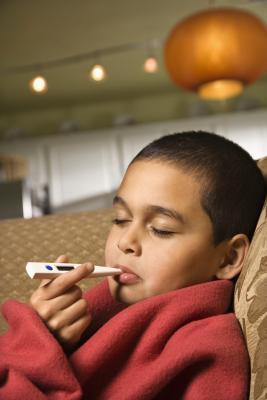 Ingrossamento delle ghiandole linfatiche su un 5-Year-Old