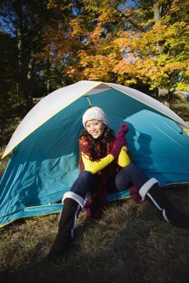 Lungolago di campeggio in Wisconsin vicino a Oshkosh