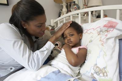 Sintomi di una tosse cronica, Croupy in un bambino