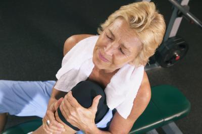 Gamba dolore muscolare dopo l'esercizio molto leggero