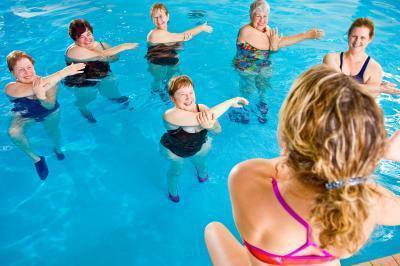 Esercizi di aquagym