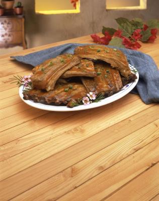Come Grill Barbecued Pork Loin posteriore costole in forno