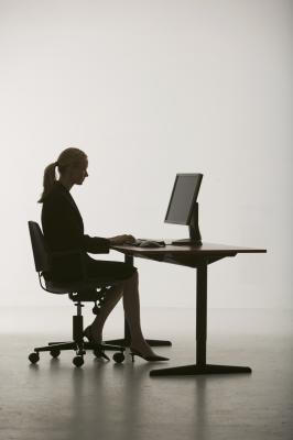 Ufficio sedia interno coscia esercizio