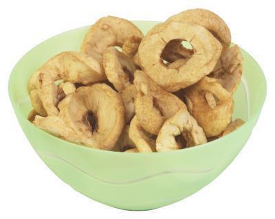 Calorie in anelli di mela secca