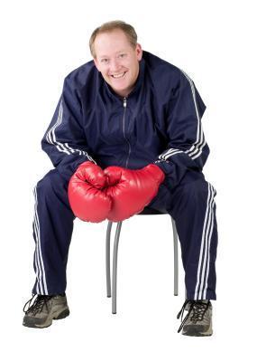 Parte superiore del corpo allenamento Cardio con una caviglia rotta
