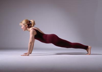 Contrazione di muscoli durante l'esercizio Plank