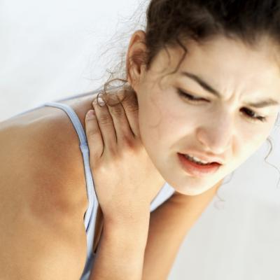Palle da tennis per ridurre la tensione del collo
