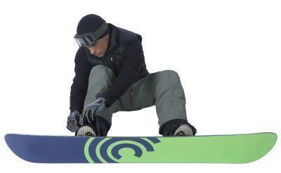 Regolando opportunamente i cinturini alla caviglia di Snowboard