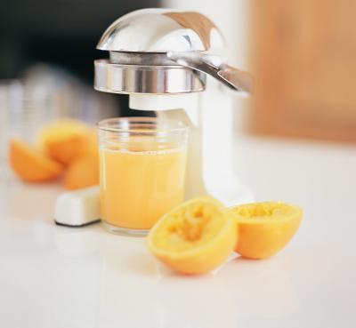 I supplementi del ferro & succo d'arancia