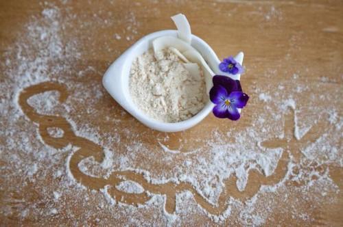Cottura con mandorle, riso & farina di cocco