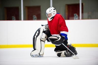 Hockey Goalie infortuni al ginocchio