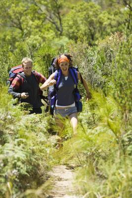 Muscolo teso nella parte superiore della coscia da Running e l'escursionismo