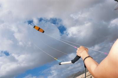 Come fare un giro nell'aria mentre Kiteboarding