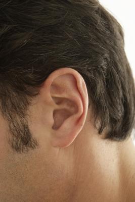 Pelle secca sul canale uditivo
