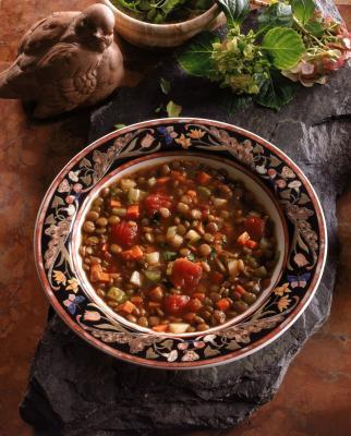 La combinazione di orzo & lenticchie per aumentare la proteina