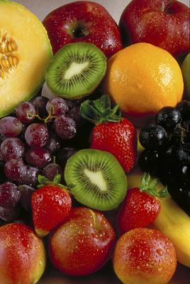 Come disintossicazione con fragole, uva e Kiwi