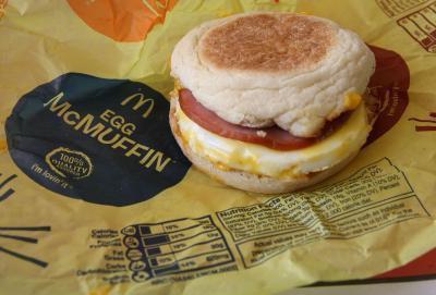 Egg McMuffin nutrizione McDonald